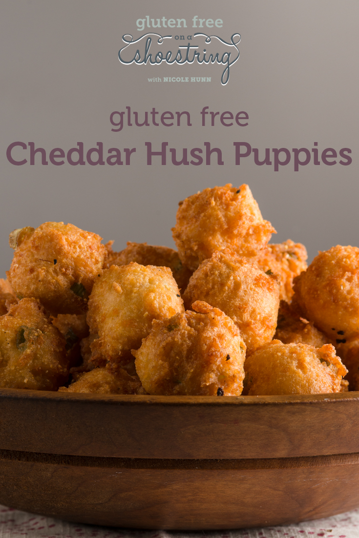 Cheddar Hush Puppies - Gluten Free on a Shoestring