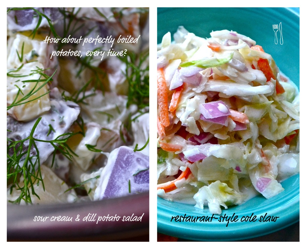Perfect Potato Salad & Cole Slaw