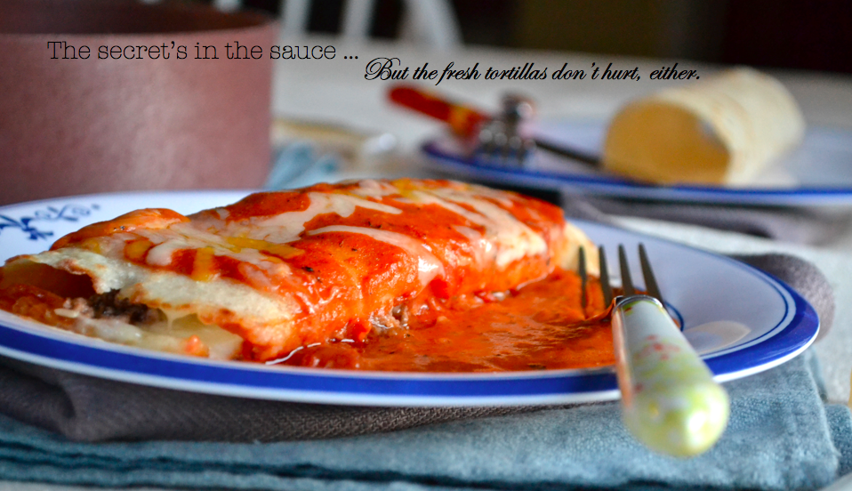 Gluten Free Enchiladas with smoky sauce