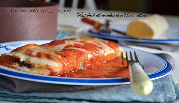 Enchiladas, Saucy & Smokin'