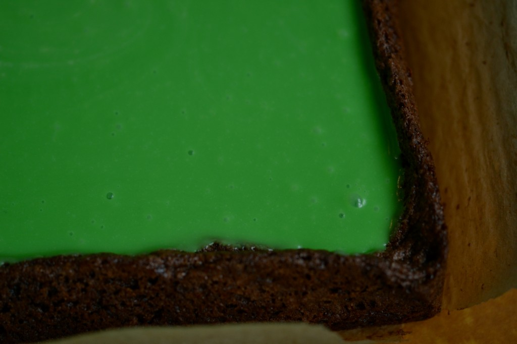 Gluten Free Mint Chocolate Grasshopper Brownies