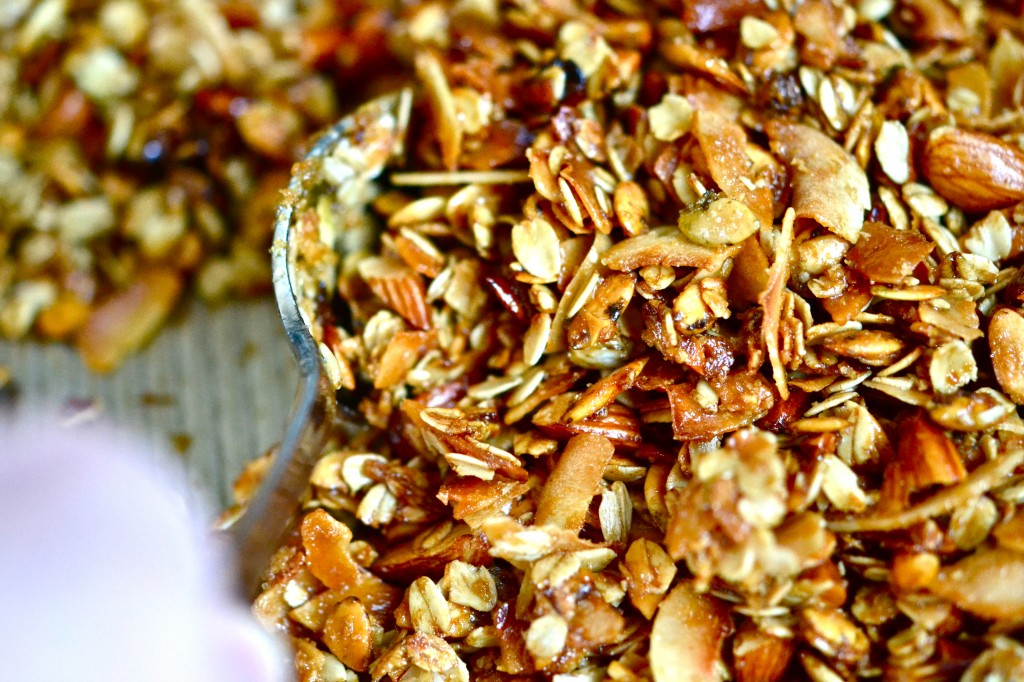 Gluten-Free Almond-Maple Granola Clusters Recipe — Dishmaps