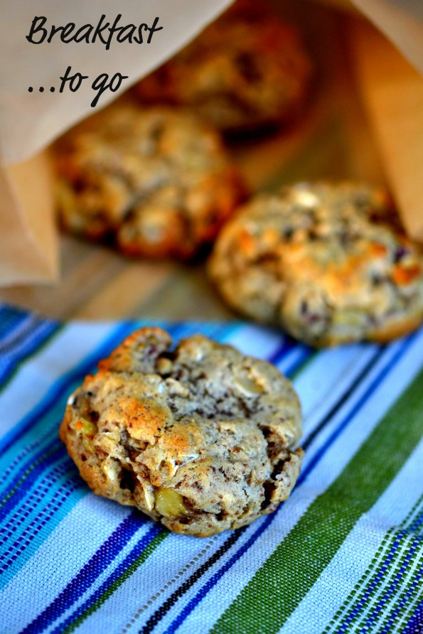 Whole Grain Banana Pecan Breakfast Cookies