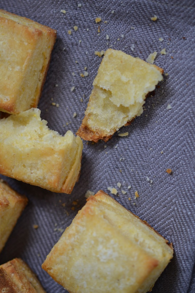 Gluten free light and flaky cornmeal biscuits