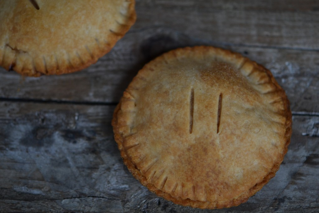 Flaky gluten-free hand pies with apple pie filling