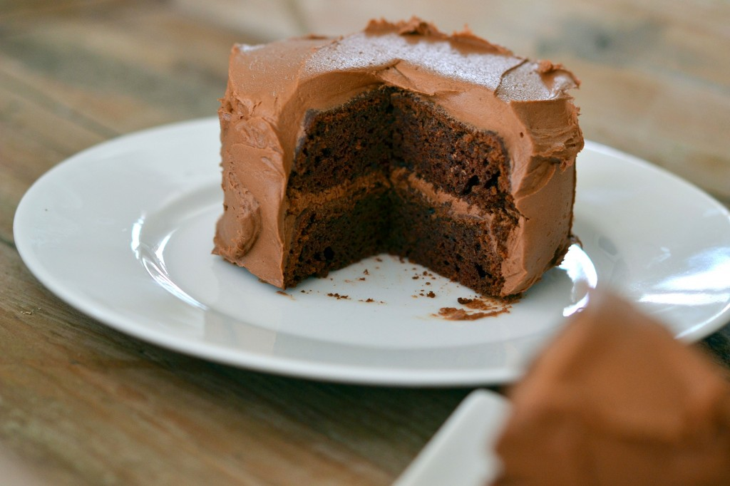 Devil's Food Layer Cake (Recipe) - with Better Batter - Great gluten ...