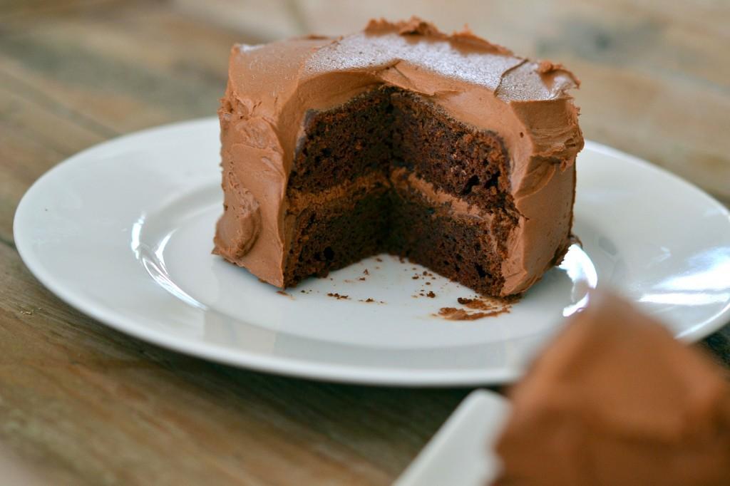 Gluten Free Devil's Food Layer Cake