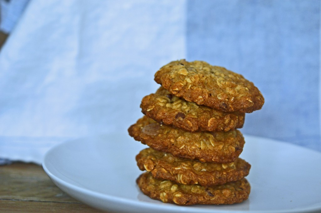 Gluten Free Thick & Chewy Oatmeal Chocolate Chip Cookies