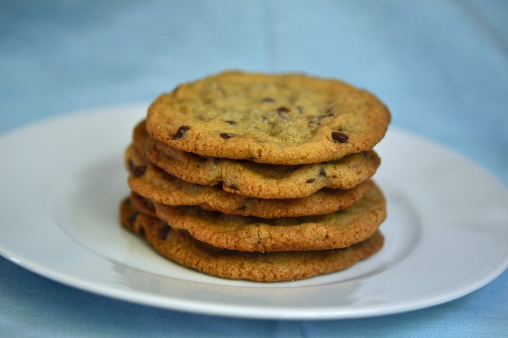 Gluten Free Chocolate Chip Cookies: Thin & Crispy