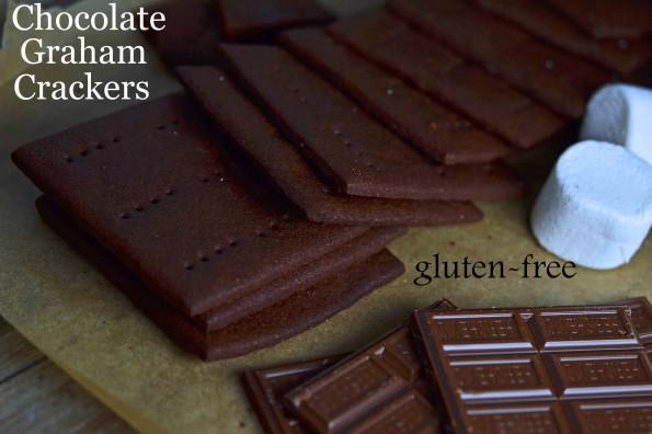 Gluten-free Chocolate Graham Crackers for S&#8217;mores