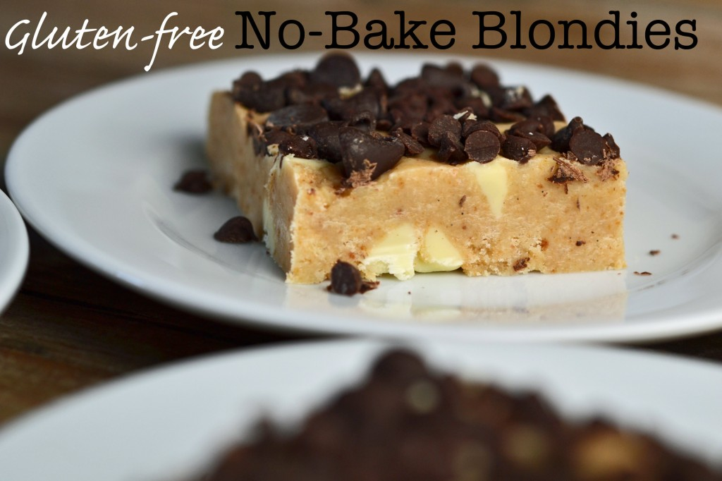 No-Bake Gluten-Free Blondies