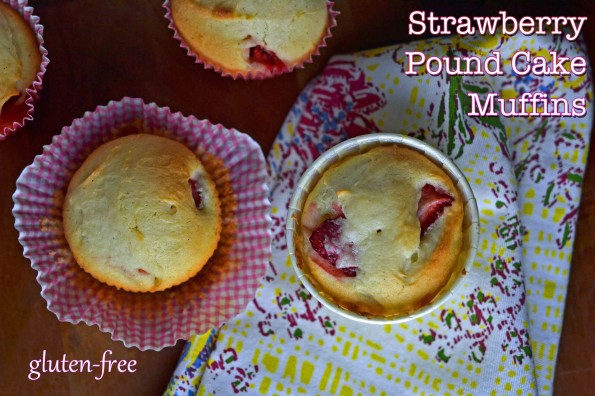 Strawberry Pound Cake Muffins