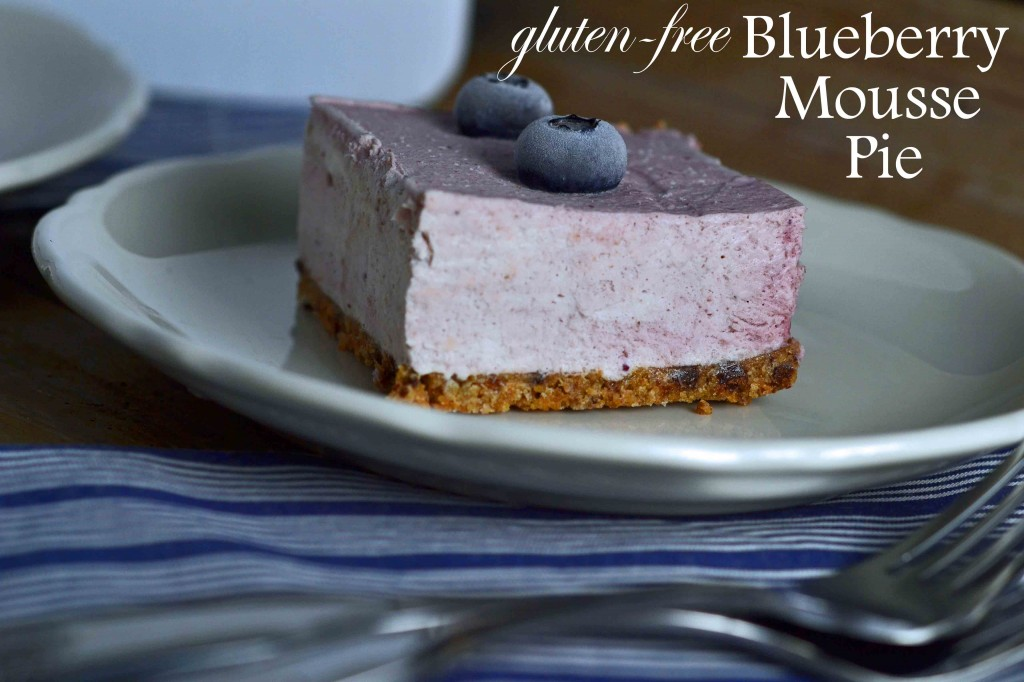 Blueberry Mousse Pie - Great gluten free recipes for every occasion.