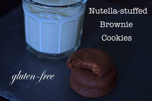 Nutella-Stuffed Brownie Cookies