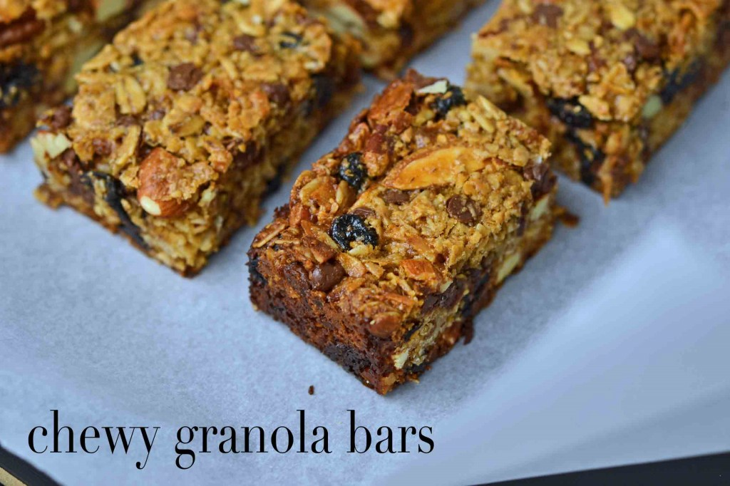Homemade Gluten Free Granola Bars—the chewy kind