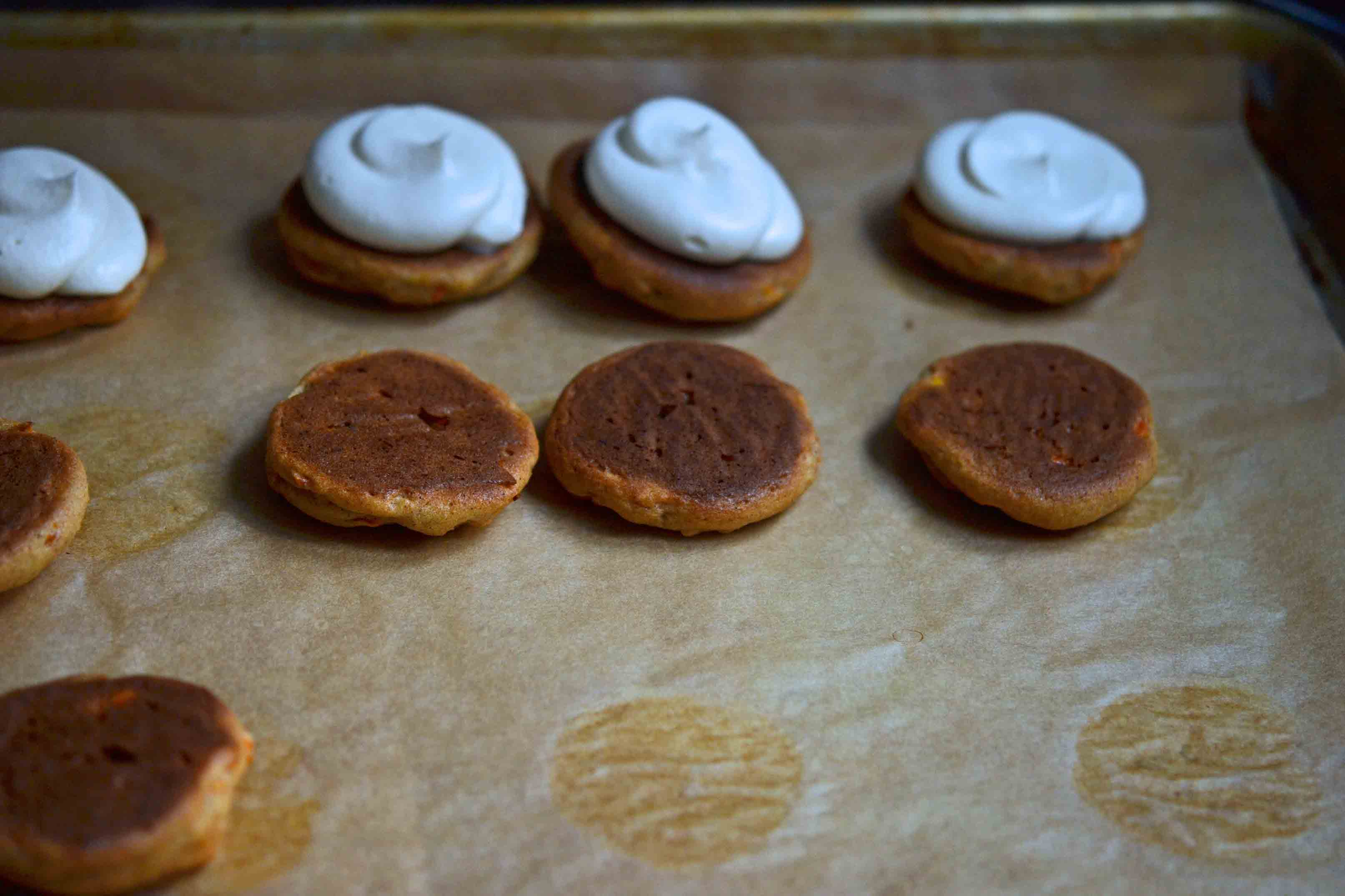 Gluten-Free Carrot Cake Whoopie Pies, Cream Cheese Filling
