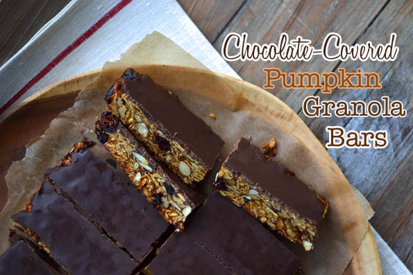 Chocolate-Covered Pumpkin Granola Bars