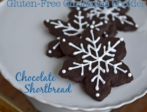 Chocolate Shortbread: GF Christmas Cookies!