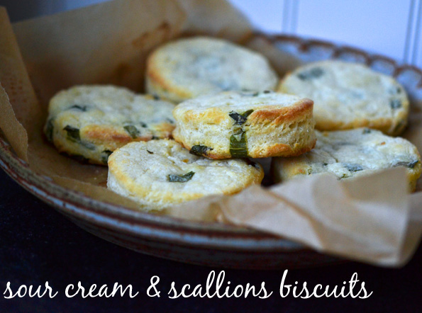 Sour Cream & Scallion Biscuits