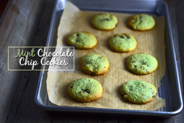 Thick & Chewy Mint Chocolate Chip Cookies (with Andes Mint Pieces!)