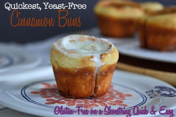 Quickest Gluten-Free Yeast-Free Cinnamon Buns