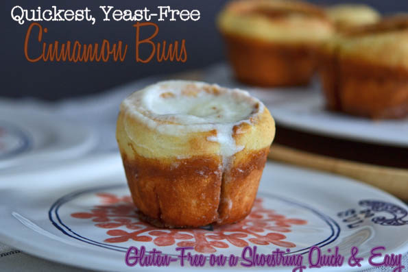 Quickest, Yeast-Free Cinnamon Buns, a Preview Recipe from Gluten-Free on a Shoestring Quick & Easy