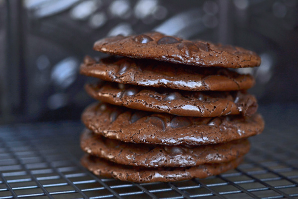 Gluten Free Flourless Chocolate Chocolate Chip Cookies