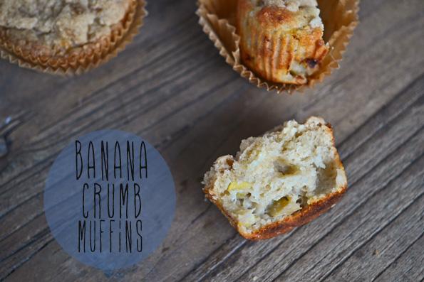 Gluten Free Banana Oat Crumb Muffins