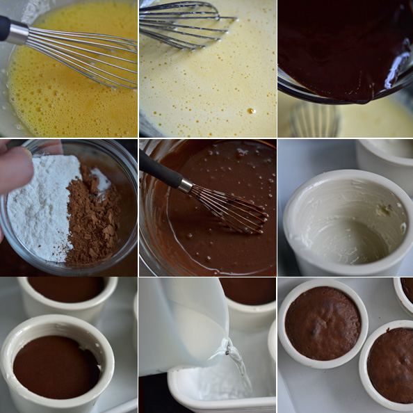 Gluten-Free Chocolate Lava Cake How-to