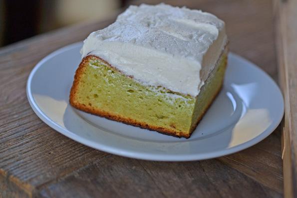 Gluten Free Pistachio Pudding Cake