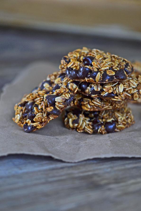 Gluten Free Flourless Cookies: Oatmeal Chocolate Chip