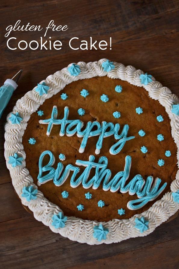 Gluten Free Chocolate Chip Cookie Cake!