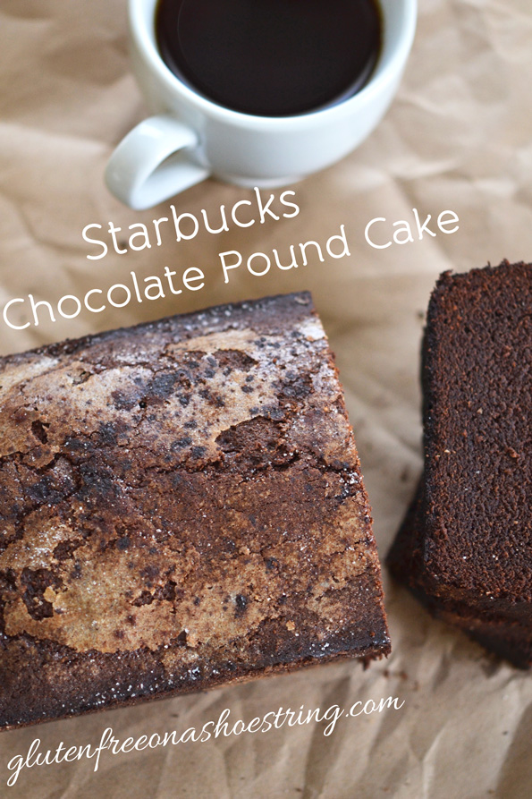 Starbucks Style Gluten Free Chocolate Cinnamon Pound Cake
