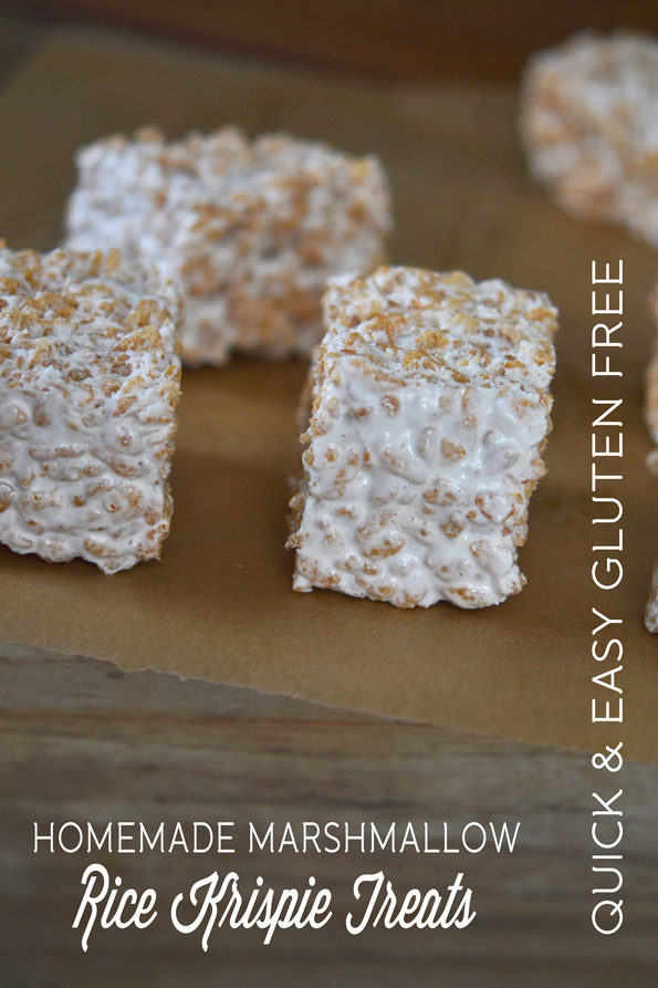 Homemade Marshmallow Rice Krispie Treats (Gluten Free)