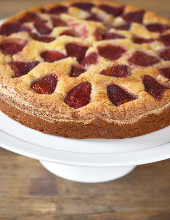 Gluten Free Roasted Strawberry Cake | Gluten-Free on a Shoestring