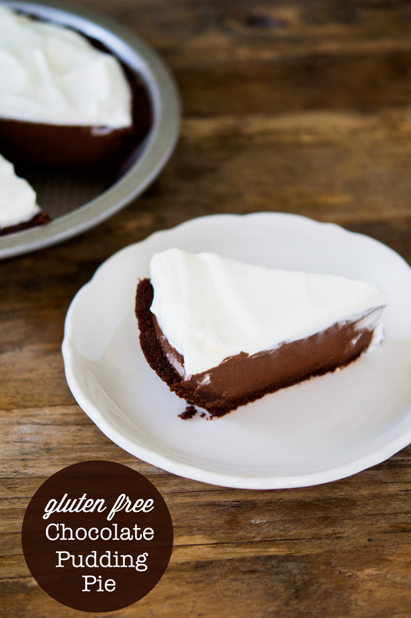 Gluten Free No Bake Chocolate Pudding Pie