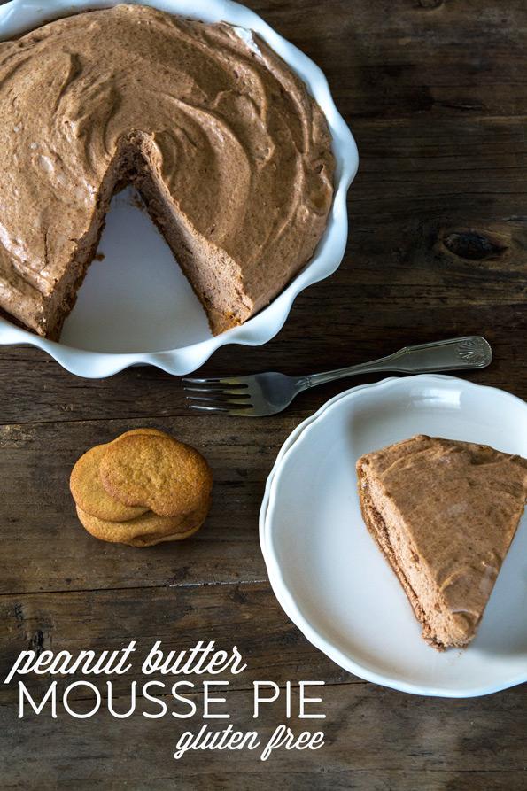 Gluten Free Peanut Butter Mousse Pie