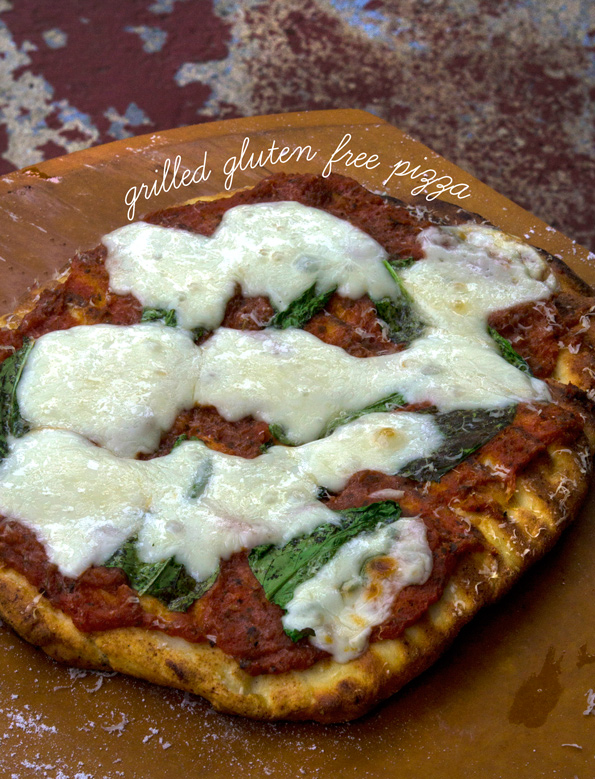Grilled Gluten Free Thick Crust Pizza