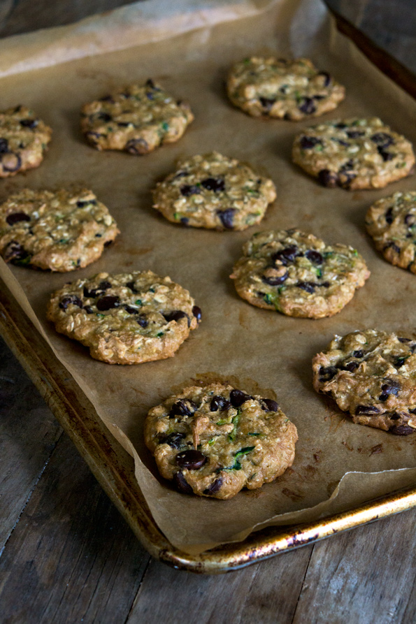 Gluten Free Zucchini Oatmeal Chocolate Chip Cookies