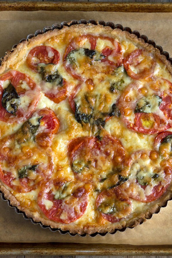 Gluten Free Tomato Tart with Rich Savory Pie Crust