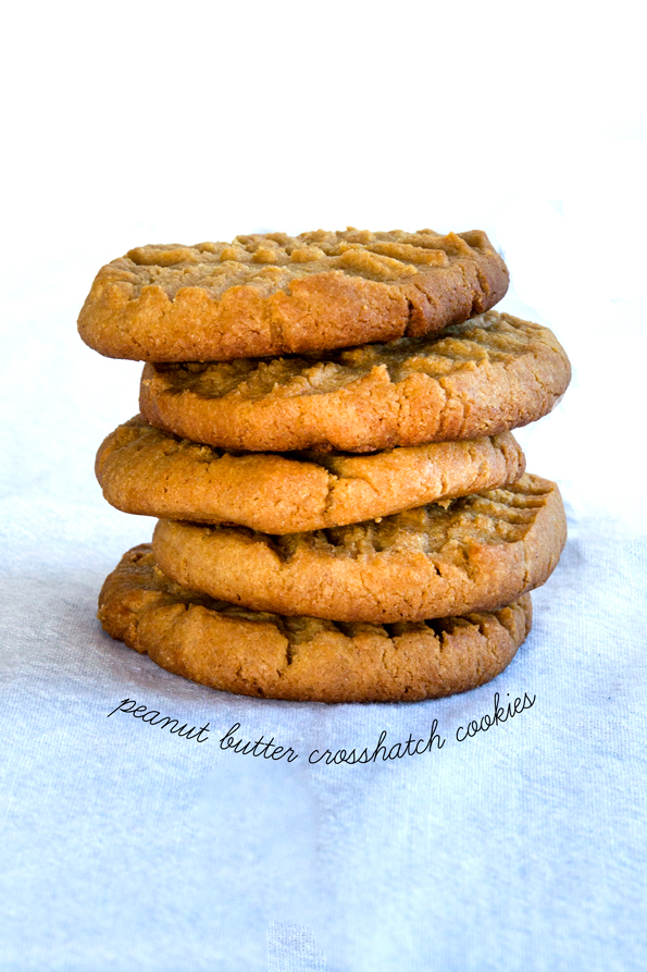 Gluten Free Crunchy Peanut Butter Crosshatch Cookies