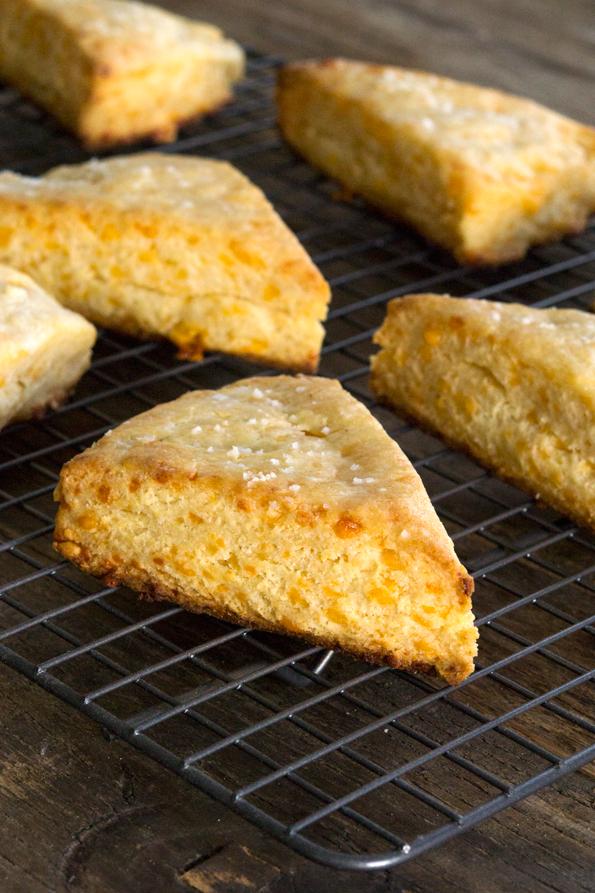 Gluten Free Cheddar Mustard Scones