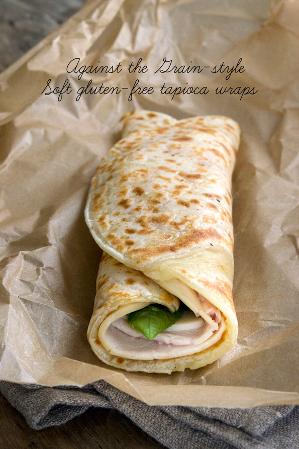 These easy, cheesy grain free gluten free wraps are made with simple gluten free pantry ingredients—plus they stay flexible even when they're cold and freeze beautifully. Gluten free wrap nirvana! http://glutenfreeonashoestring.com/soft-tapioca-gluten-free-wraps/