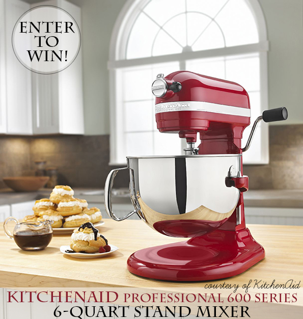 Enter to win a 6-quart KitchenAid Stand Mixer!