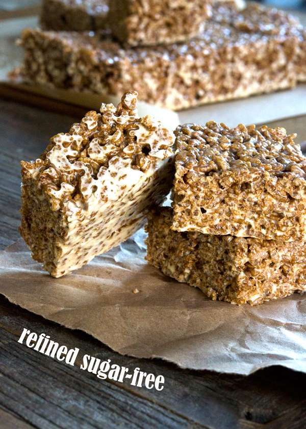 Gluten Free Crispy Rice Treats (Refined Sugar-Free!)