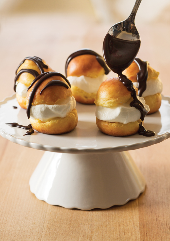 These gluten free cream puffs are made with a simple cooked pastry dough called choux pastry. With only five simple pantry ingredients, you're only moments away from a simple but impressive treat! http://glutenfreeonashoestring.com/gluten-free-cream-puffs/