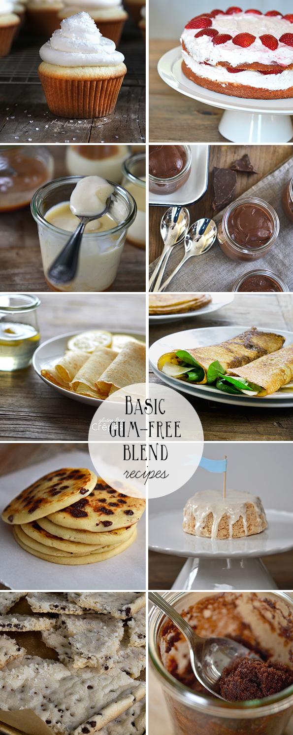 Basic Gum-Free Gluten Free Flour Blend Recipes
