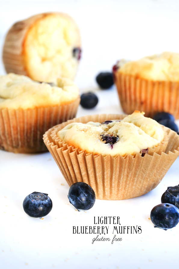 Lighter Gluten Free Blueberry Muffins - Gluten Free on a Shoestring