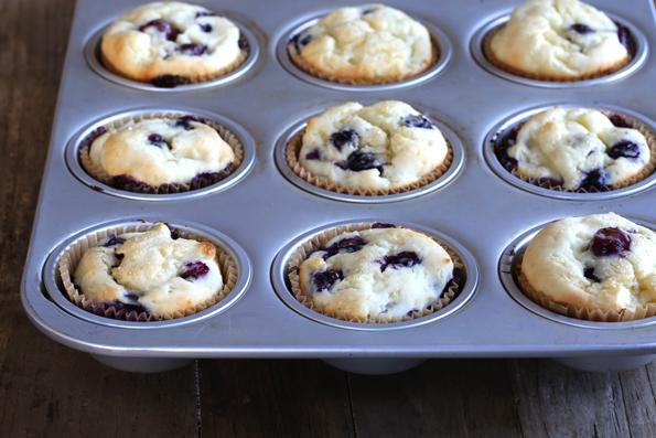 Lighter Gluten Free Blueberry Muffins