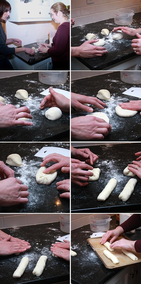 Shaping Gluten Free Hoagie Rolls from GFOAS Bakes Bread